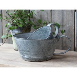 French flower pot w. Handle