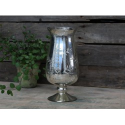 Vase tulip w. cuttings antique silver
