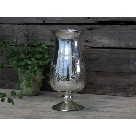 Vase tulip w. cuttings antique silver