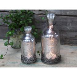 Bottle lantern w. french lily