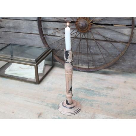 Vintage candlestick antique rose