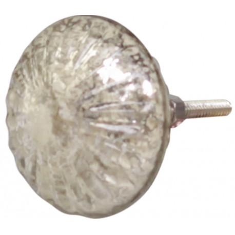 Knob glass antique champagne