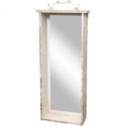 Mirror shelf antique creme