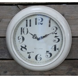"Vintage wall clock w. text ""1774"""