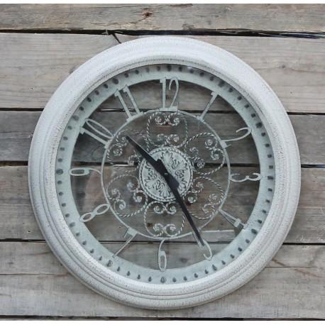 Vintage wall clock w. fil de fer deco