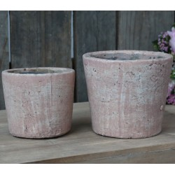 French clay pots antique rose