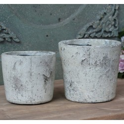French clay pot antique creme