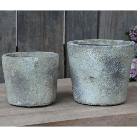 French clay pots antique beige