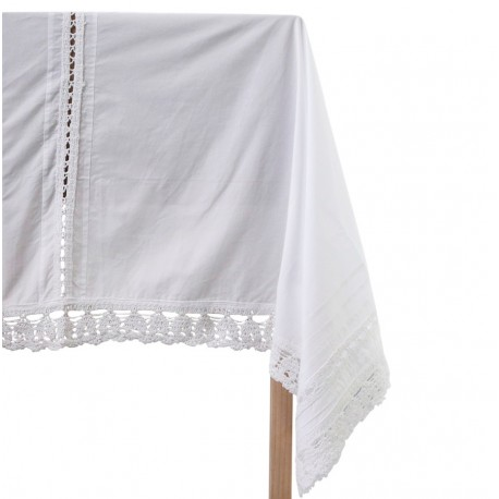 Lace tablecloth white 100% cotton