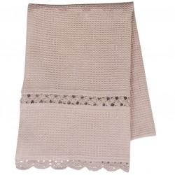 Ręcznik Kuchenny z Koronką Brudny Róż