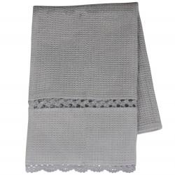 Ręcznik Kuchenny z Koronką Szary