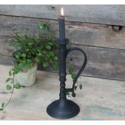 Chamberstick in cast iron look black