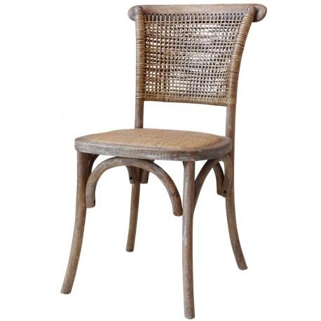 Krzesło z Rattanowym Siedzeniem i Oparciem Chic Antique