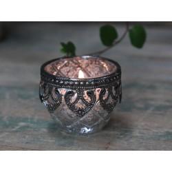 Świecznik Na Tealight Chic Antique Posrebrzany