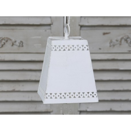 Lamp w.eyelet pattern antique white
