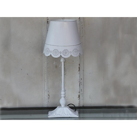 Table lamp w.lace edge oval