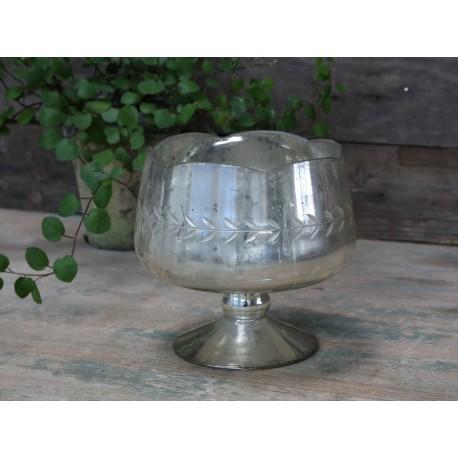 Pucharek Szklany Chic Antique z Wzorami