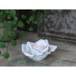 Świecznik Na Tealigh Róża Porcelanowy
