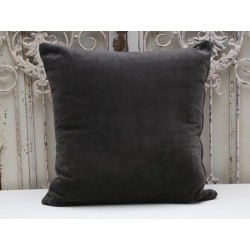 Pillow velour charcoal with filling