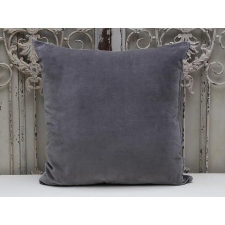 Pillow velour grey with filling