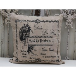 Pillow w.print sand with filling