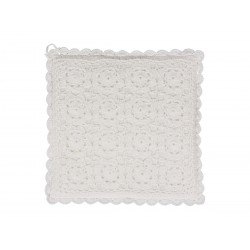 Pot holder (S18) w, roses crochet