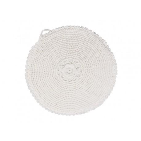 Pot holder (S18) w. roses crochet