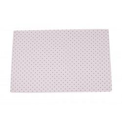 Table mat w.dots white 33x48 cm