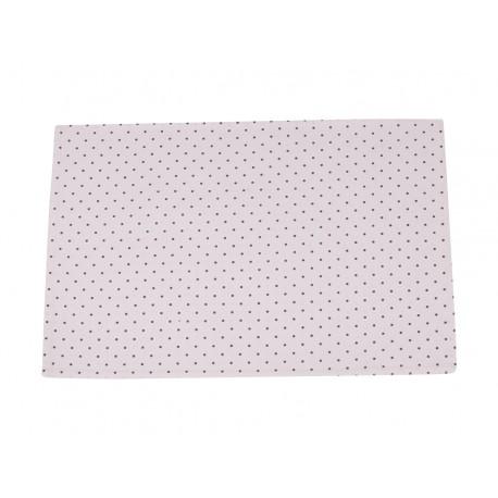 Table mat w.dots white 33x48 cm