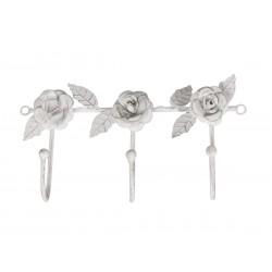 Coat Hook w. roses 3 hooks
