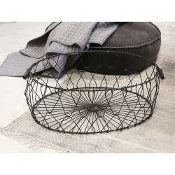 Old fil de fer Basket foldable