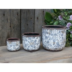 Melun Flower Pot w. french patten