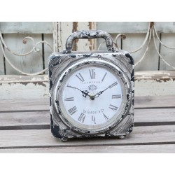 Clock for table antique mocca 19x24 cm