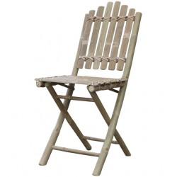 Krzesło Ogrodowe Bambusowe Lyon