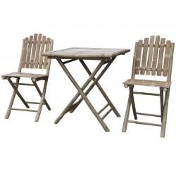 Stół Bambusowy z Krzesłami Lyon