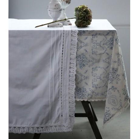 Lace tablecloth white 100% cotton