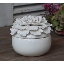Ceramiczny Pojemnik Ozdobny Chic Antique Biały