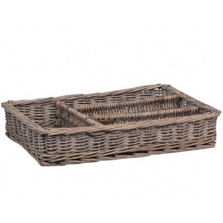 French braided Cutlery basket (S18)