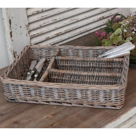 French braided Cutlery basket (S18)