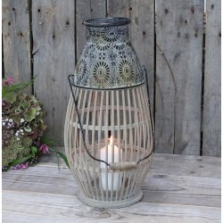 Lampion Bambusowy Chic Antique z Uchwytem A