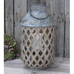 Lampion Bambusowy Chic Antique z Uchwytem B