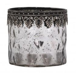Tealightholder w. silver decor