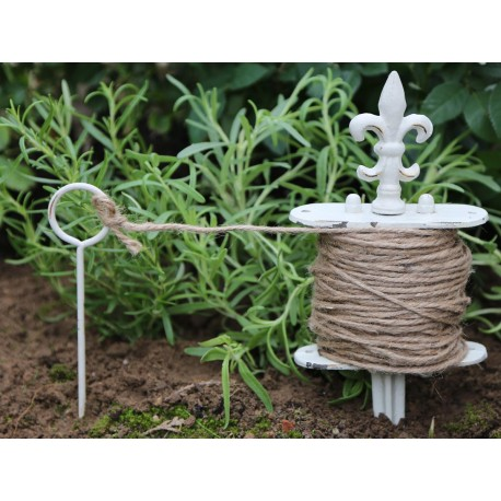 Plant string on spear