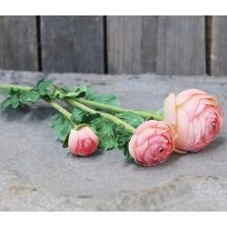 Kwiaty Sztuczne Jaskier Pudrowy