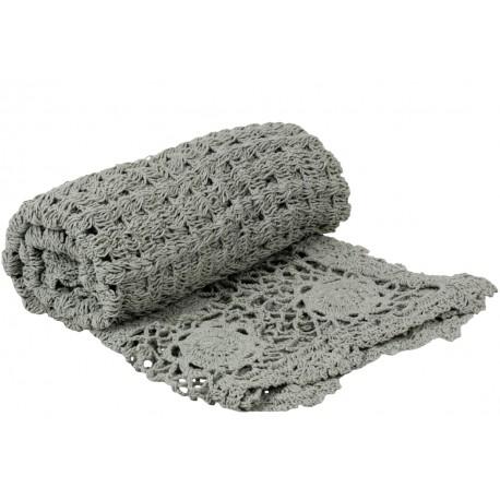 Crochet plaid light mint