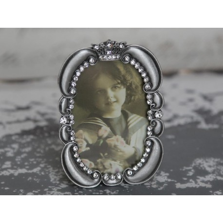 Frame w.imitation antique silver 6x8 cm