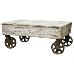 Frencoffee table on wheels antique