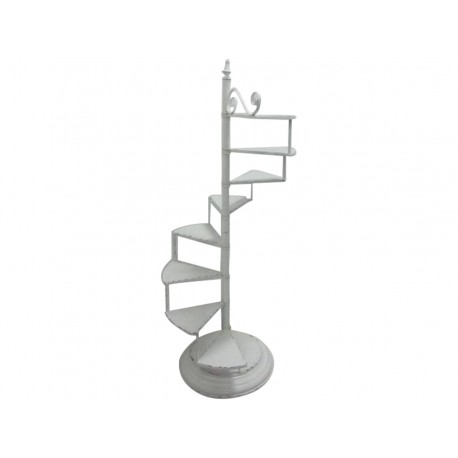Flower stairs antique white H142/L57cm