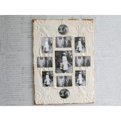 Frame w.room for 11 photos iron