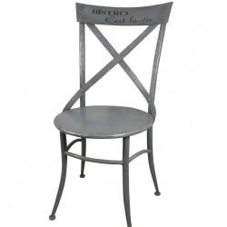 Metalowe Krzesło Bistro Szare